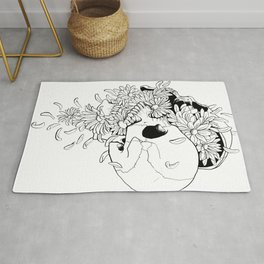 Skull (Pushing Up Daisies) Rug