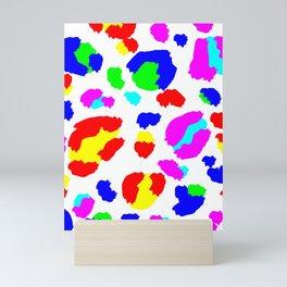 Leopard colorful pride Mini Art Print
