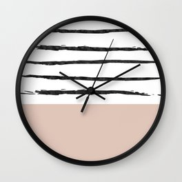 Mineral Blush | Modern Watercolor Wall Clock
