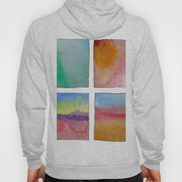 Four Abstract Landscape Studies of Colours Hoody