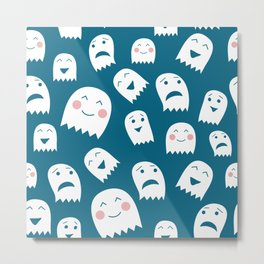 Ghosts pattern Metal Print