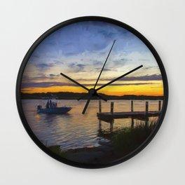 Sunset View in Denbigh Wall Clock