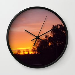 Northern Sunset  Wall Clock