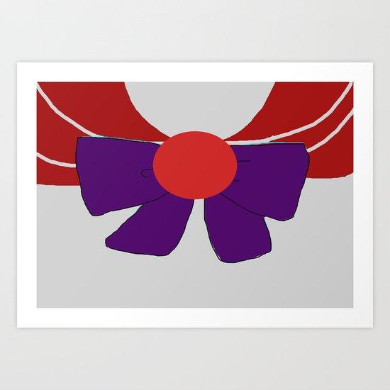 Sailor Mars Bow Art Print