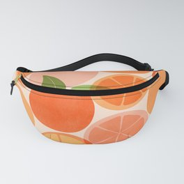 Sunny Oranges / Tropical Fruit Illustration Fanny Pack