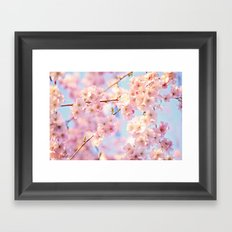 burst of bloom Framed Art Print