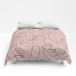 Blush Faces Comforters