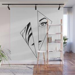 Geometric Girl Wall Mural