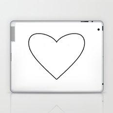 White Heart Laptop & iPad Skin