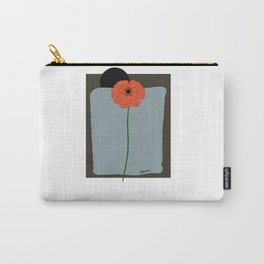 Poppy bloom with black sunset Carry-All Pouch