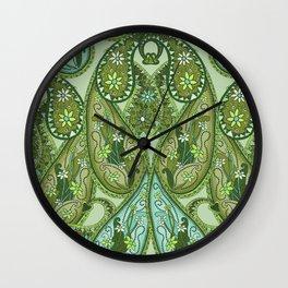 Paisley Design Bamboo Wall Clock