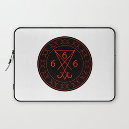 666- the number of the beast with the sigil of Lucifer symbol Laptop Sleeve