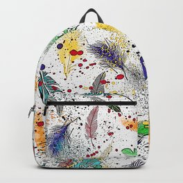 Feathers and Splats Backpack