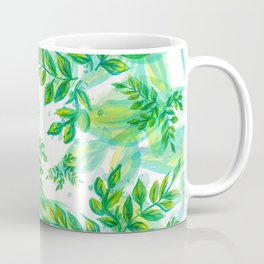 Watercolor Leafs Pattern (Color) Coffee Mug