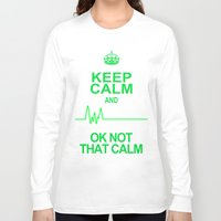 keep calm Long Sleeve T-shirts featuring Keep Calm by Alice Gosling