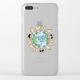 We Are Different But the Same Corgis Clear iPhone Case