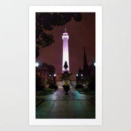 Washington Monument, Baltimore Art Print