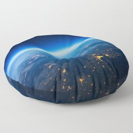 Earth from Space Floor Pillow