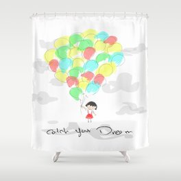 catch your dream Shower Curtain