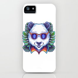 Panda Head Logo With Glases iPhone Case