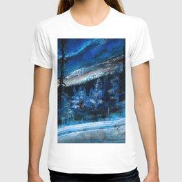 Natt Nordisk Ski winter landscape by Dennis Weber / ShreddyStudio T-shirt
