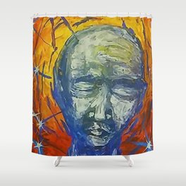 Existential Blues Shower Curtain