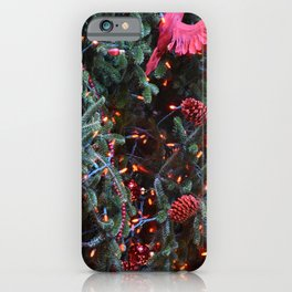Christmas Tree Decorated Red iPhone Case