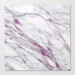 Gray and Ultra Violet Marble Agate Canvas Print