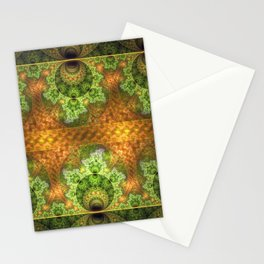 balls and stunning patterns in green and gold / orange Stationery Cards