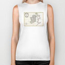 Map of Ireland - Bonne - 1771 Biker Tank