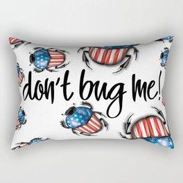 Don't Bug Me – USA Flag beetle Rectangular Pillow