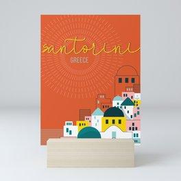 Santorini Travel Art Mini Art Print