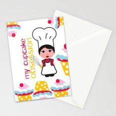 Cupcake obsession Stationery Cards