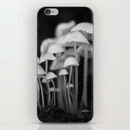Black and White Mushroom Colony  iPhone Skin