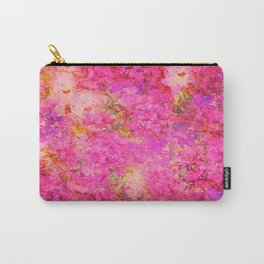 Pink and Red Vintages Roses So Shabby Chic Carry-All Pouch
