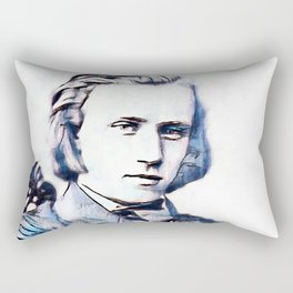 Johannes Brahms (1833 – 1897) in 1853 (3) Rectangular Pillow