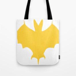 Orange-Yellow Silhouette Of a Bat  Tote Bag