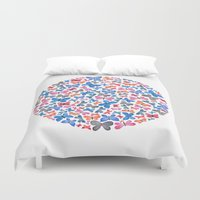 watercolour Duvet Covers featuring Watercolour Butterflies.  by Elena O'Neill