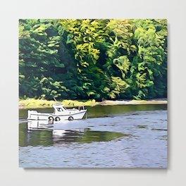 Little Boat on the River Eske Metal Print