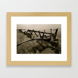 Light House Remains Framed Art Print