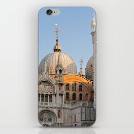 Early morning above the Saint Mark's Basilica. Architectural details. iPhone Skin