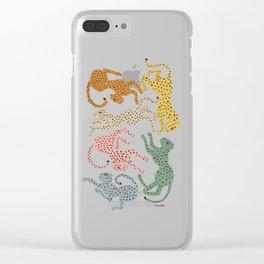 Rainbow Cheetah Clear iPhone Case