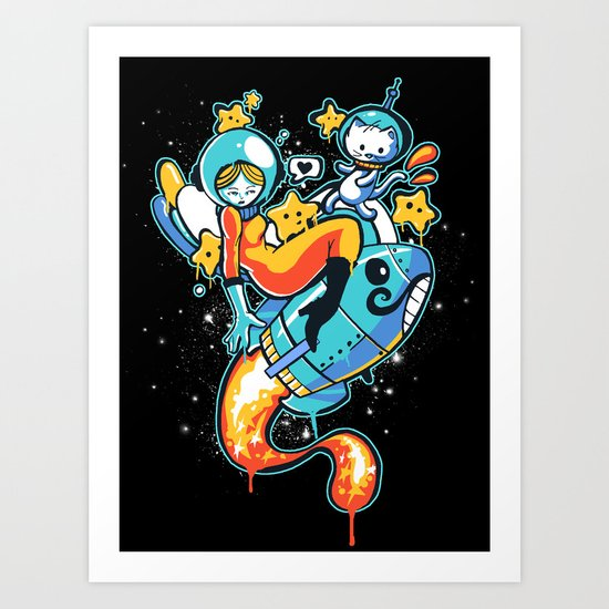 A is for Astronaut Art Print