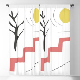 Summertime and the living's easy Blackout Curtain