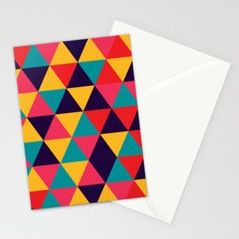 Colorful Triangles (Bright Colors) Stationery Cards