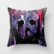 Cosmic Cranium Throw Pillow