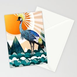 Crowned Crane Stationery Cards