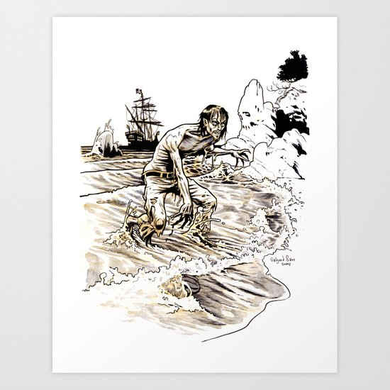 Out of the Sea of Red Art Print