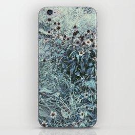 Silver Flowers iPhone Skin