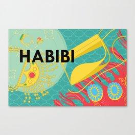 Emirati Treasures (English Habibi) Canvas Print